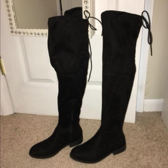 1846939fff0 Thigh high black boots. M 5a7c57e1d39ca2efcff948e5